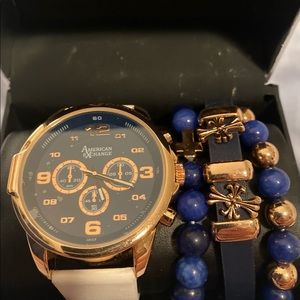 Men's watch and bracelet set